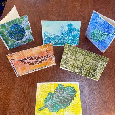 Gelli Plate Printed Cards Free Webinar