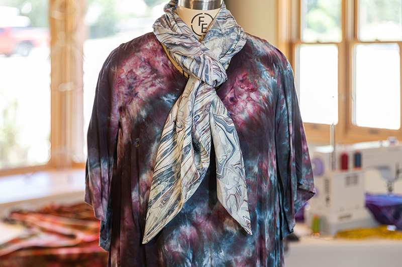New Pieced Bias Scarf Class Now Available!